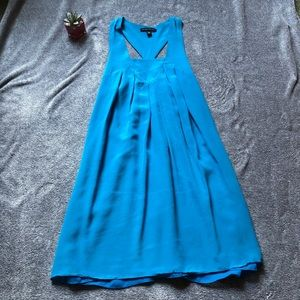 Banana Republic Ocean Blue Silk Mini Dress